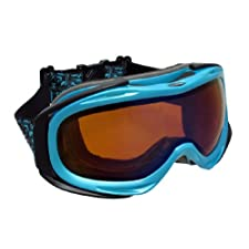 Black / Turquoise Blue MX / Ski Goggles Orange Lenses