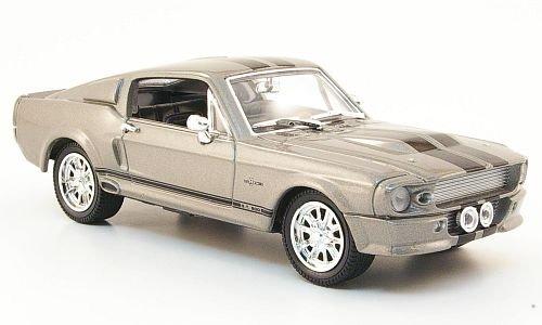 Shelby GT 500, grau/schwarz, 1967, Modellauto, Fertigmodell, Yat Ming 1:43