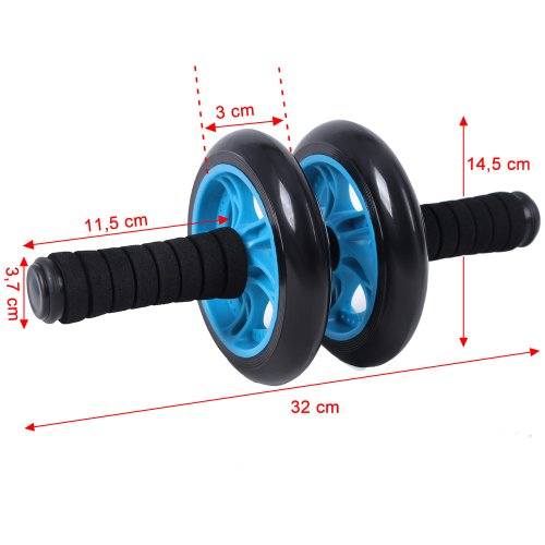 preiswert songmics bauchtrainer roller ab wheel mit knie pad blau spu75p g nstig shoppen. Black Bedroom Furniture Sets. Home Design Ideas