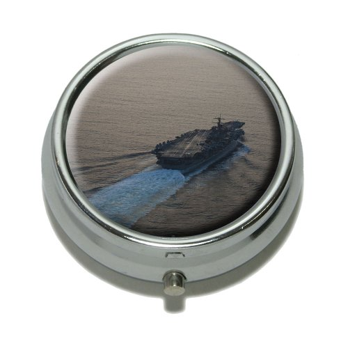 United States Navy Aircraft Carrier USS Enterprise Pill Case Trinket Gift Box