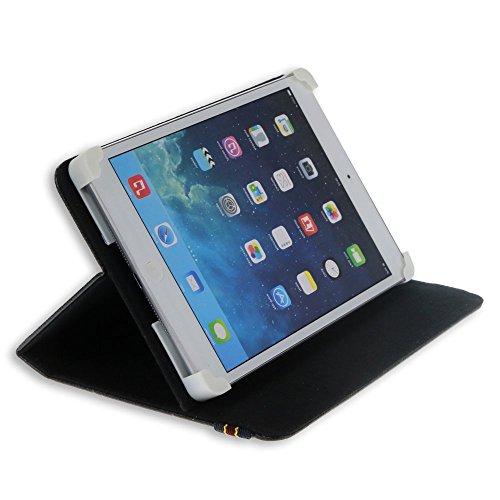 Custodia Cover Universale / Regolabile 10'' per Tablets come ARCHOS Arnova 9 G2 , MEDIACOM Smart Pad 1010i , Samsung Galaxy Tab 2 P5100 , HAMLET Zelig Pad 970H , HAMLET Zelig Pad 970H2 , HAMLET Zelig Pad 210 / 210G, HAMLET Zelig Pad 970H 3G , HAMLET Zelig Pad 410 / 410S , TREKSTOR SurfTab Ventos 10.1 , Mediacom Smart Pad 102 S2 , Archos 101 Titanium , ASUS MeMo Pad Smart ME301T-1A072A , ASUS MeMo Pad Smart ME301T-1B043A , ARCHOS 97 Xenon , ASUS Vivo Tab RT TF600T , Microsoft Surface , etc. (Nero) - Access