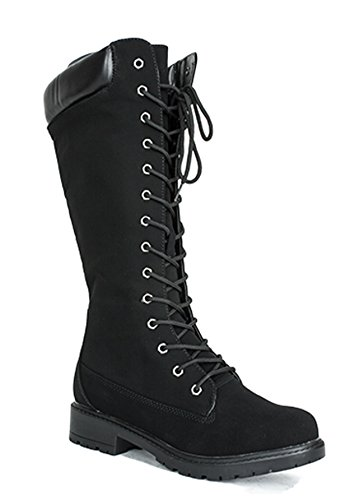 Hipster Urban Lace Up Military Combat Grunge Gothic Women Work Boots (8.5)