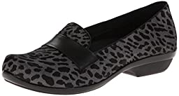 Dansko Women\'s Oksana Flat,Grey Cheetah Hair Calf,36 EU/5.5-6 M US