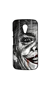 Funny Joker Half Face Designer Mobile Case/Cover For Moto G2