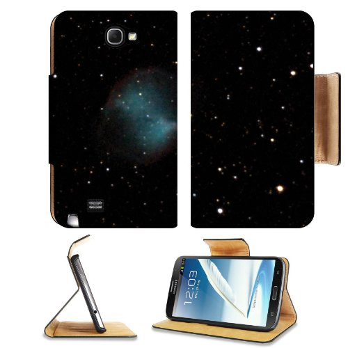 Galaxy Stars Universe Black Space Samsung Galaxy Note 2 N7100 Flip Case Stand Magnetic Cover Open Ports Customized Made To Order Support Ready Premium Deluxe Pu Leather 6 1/16 Inch (154Mm) X 3 5/16 Inch (84Mm) X 9/16 Inch (14Mm) Msd Note Cover Professiona