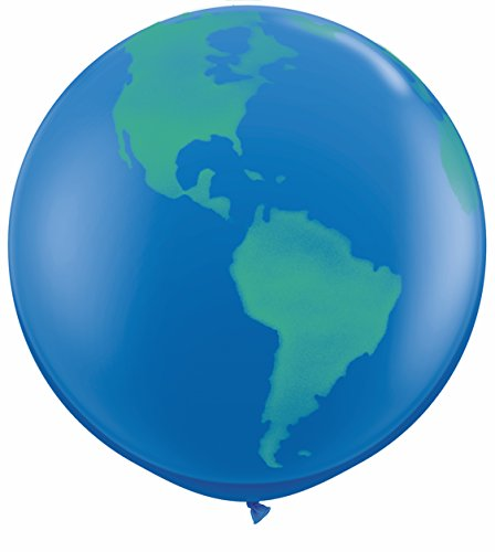 "1 X 36"" Globe World Planet Earth Latex Balloon - Latex Balloon Foil - 1"