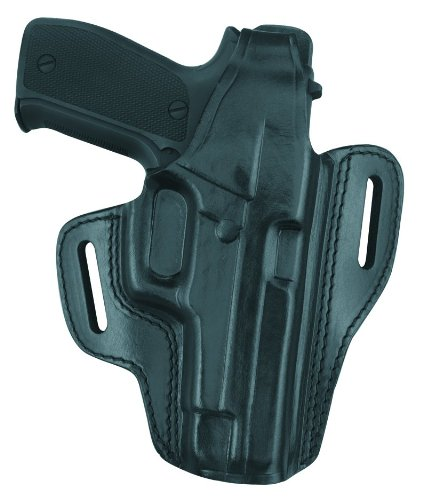 Gould & Goodrich GGB802-26RLH Gold Line Two Slot Pancake Holster, Left-hand, Fits Sig P220, P226, P226 with Equipment Rail (Black)