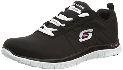 Skechers Flex Appeal Next Generation, Sneaker basse donna, Nero (Nero (Black/White)), 40