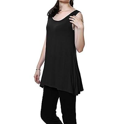 Women's Relaxed Tank Tunic Top Basic Cami Dress for Sleep/Yoga/Sports