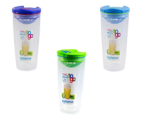Sistema 23.6OZ / 700ML Shaker To Go, Colors Vary, 1-pack (Salad Bar Tupperware compare prices)