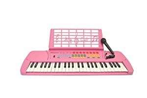 pink 49 keys keyboard children student electronic digital piano with microphone. Black Bedroom Furniture Sets. Home Design Ideas