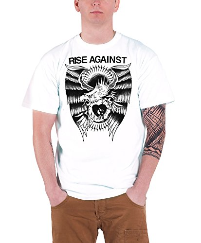 Rise Against - Top - Maniche corte  - Uomo bianco XX-Large