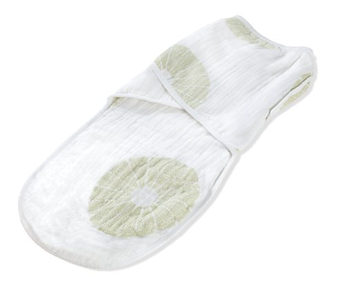 aden + anais Organic Cotton Muslin Easy Swaddle Blanket, Oasis (Discontinued by Manufacturer)