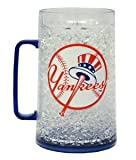 Caseys Distributing 9413101348 New York Yankees Crystal Freezer Mug- Monster Size
