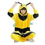 ミツバチの着ぐるみ 大人用パジャマ 部屋着 コスプレ ハロウィンM(161CM~170CM) …