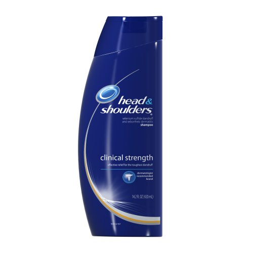 Head & Shoulders Clinical Strength Anti Dandruff Shampoo 14.2 Fl Oz (Pack of 2)