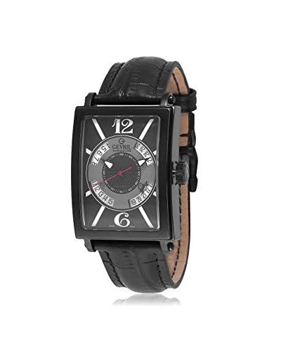 Gevril Men's 5050 Avenue Of Americas Analog Display Automatic Self Wind Black Watch
