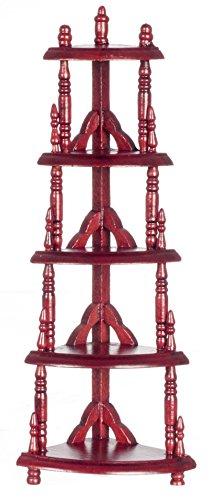 Dollhouse Miniature 1:12 Scale Mahogany Victorian Corner Etagere #T3375 - 1