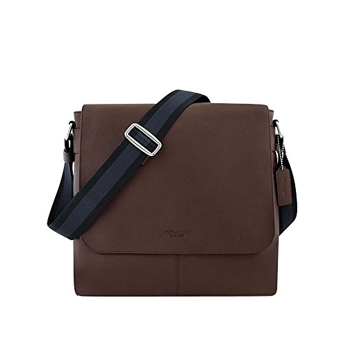 Coach New York Men`s Charles Messenger Cross Body Bag, Mahogany Brown OS