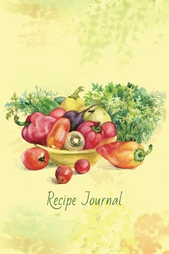 Recipe Journal: Autumn Vegetables Cooking Journal, Lined and Numbered Blank Cookbook 6 x 9, 180 Pages (Recipe Journals) by Recipe Journal, Diary & Journal Press