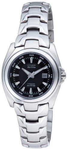 Citizen EW0910-52E - Orologio da polso donna, titanio, colore: argento