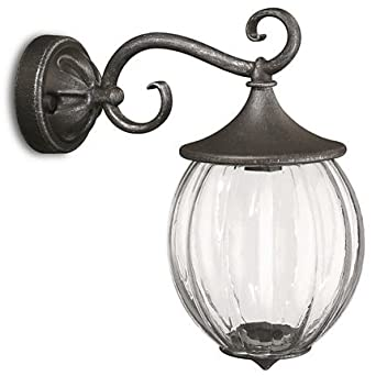 Buy Philips Mygarden Glass Wall Light Grey And 24 Watt 15301 54 Online At Low Prices In