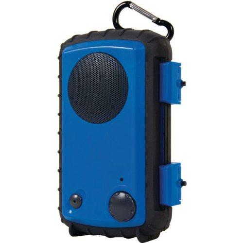 Grace Digital Audio Aqcse102 Rugged Waterproof Ipod/Iphone Case With Built-In Speaker (Blue)