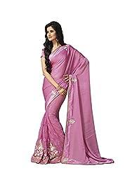 Subhash Sarees Daily Wear Pink Color Sateen Saree Sari Sarees