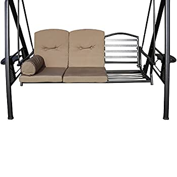 Le Papillon Outdoor 3-Person Porch Swing Hammock with Adjustable Tilt Canopy