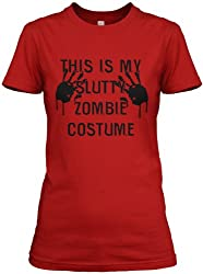 This is my Slutty Zombie Costume T Shirt women's Halloween costume tee by Crazy Dog Tshirts