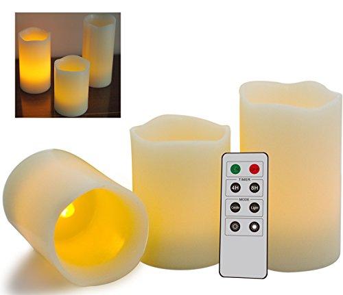 Lot-de-3-bougies-tlcommandes-Splendide-bougies-LED-sans-flammes-avec-tlcommande-et-minuterie