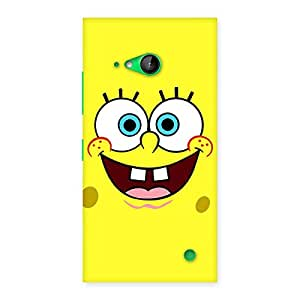 Stylish Spong Yellow Back Case Cover for Lumia 730