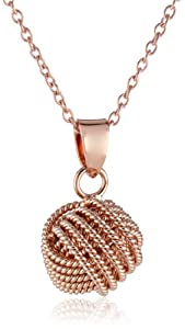 """Sterling Silver """"Love Knot"""" Pendant Necklace, 18"""" from IBB USA"""