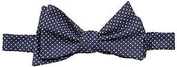 Tommy Hilfiger Men\'s Nantucket Pindot Self Tie Bow Tie, Navy, One Size