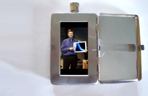 Bill Gates Microsoft Photo 2oz Flask Cigarette Case Id Wallet Picture