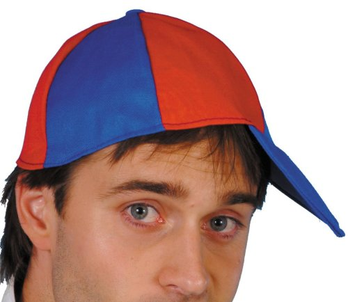 Smiffys Schoolboy Cap Blue And Red - 1