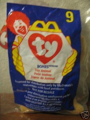 Ty Beanie Babies - 1998 Beanie Babies McDonald`s BONES the Dog #9 - TY BEANIE Babies