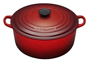 Le Creuset Enameled Cast-Iron 5-1/2-Quart Round French Oven, Red