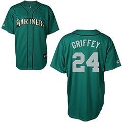 Ken Griffey Seattle Mariners Alternate Green Replica Jersey by Majestic by Majestic