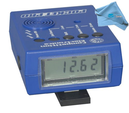 Competition Electronics Pocket Pro Shot Timer and Purchasecorner Polish Cloth Bundle