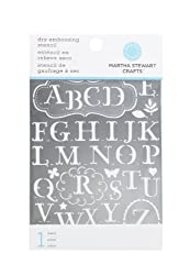 Martha Stewart Crafts Alphabet Embossing Stencils