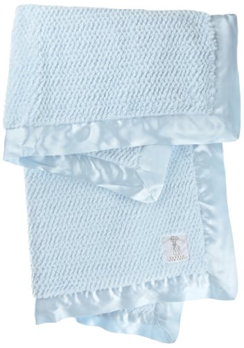 Little Giraffe Luxe Twist Baby Blanket, Blue