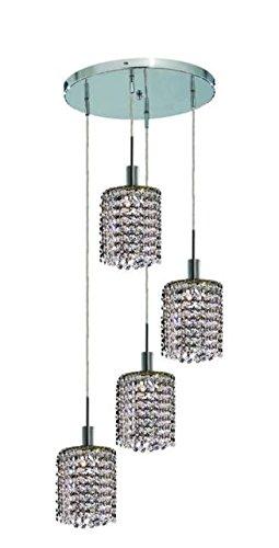 "Wiatt 4-Light 9.5""D Crystal Ceiling Pendant 1092D-R-R-Cl-Rc"