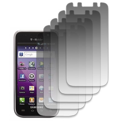 EMPIRE 5 Pack of Screen Protectors for T-Mobile Samsung Galaxy S 4G