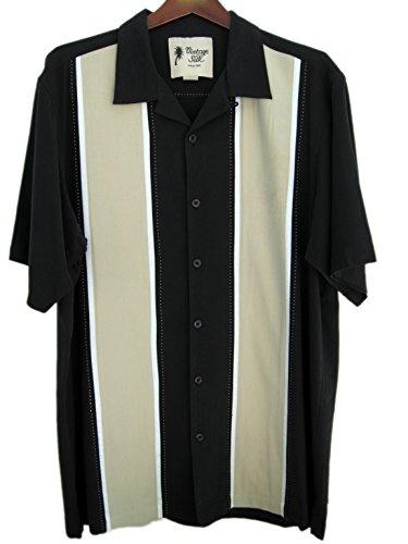 Mens big and tall luxury silk camp shirt 50s panel 2 for Mens silk shirts amazon