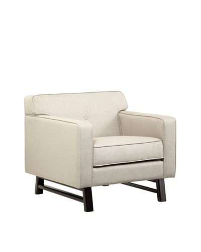 Armen Living Halston Chair, Parchment