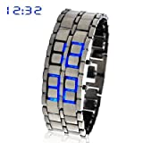 Ice Blue Samurai Japanese Style LED Watch gadgets