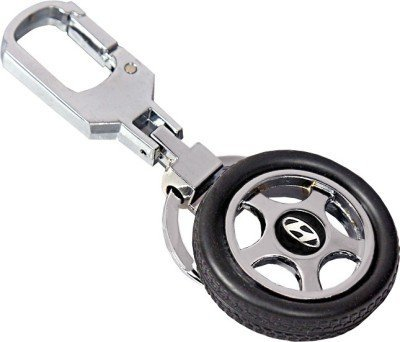 GCT Hyundai Spinning Tyre Rotary Wheel Locking Metal Keychain / Keyring / Key Ring / Key Chain