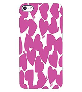 ColourCraft Loving Hearts Design Back Case Cover for APPLE IPHONE 4S