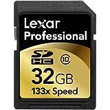 Lexar 32GB Professional 133x SDHC Memory Card (LSD32GCRBNA133)